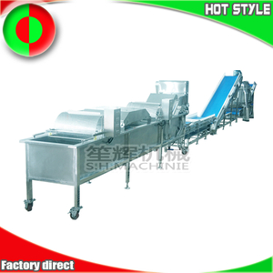 Customizable Chinese herbal leaf vegetable fruit cutting, washing and dehydrating processing line