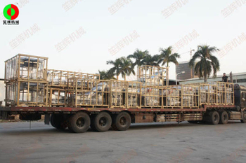 Six sets of eddy current vegetable washing production lines catch the logistics at the end of the year without delivery
